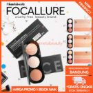Focallure Blush on & Highlighter Pallete 3 Colors Face Original
