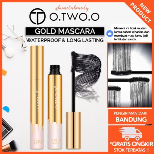 O.TWO.O Gold Maskara Cepat Kering Bulu Mata Lentik Panjang👍