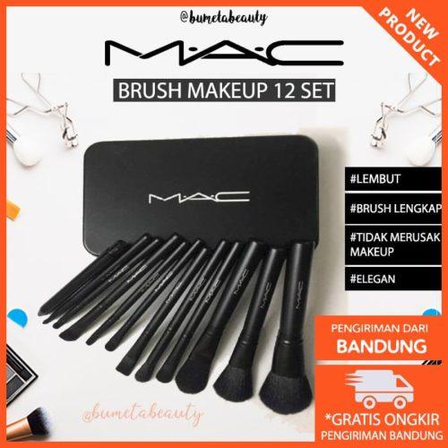 Mac Brush Makeup Set 12pcs + Box Murah Bandung