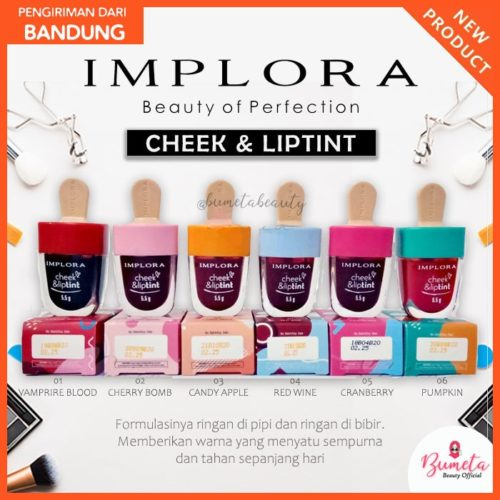 Implora Cheek & Lip Tint (Lipstik Cair)